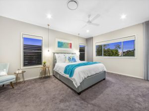 Brisbane Painters painted the bedroom of a beautiful home in Manly Brisbane