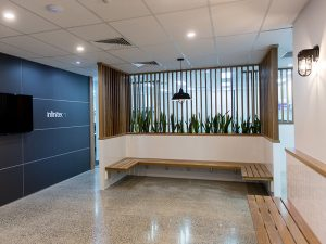 Newstead office painter added finishing touches to Infinitec offices Brisbane
