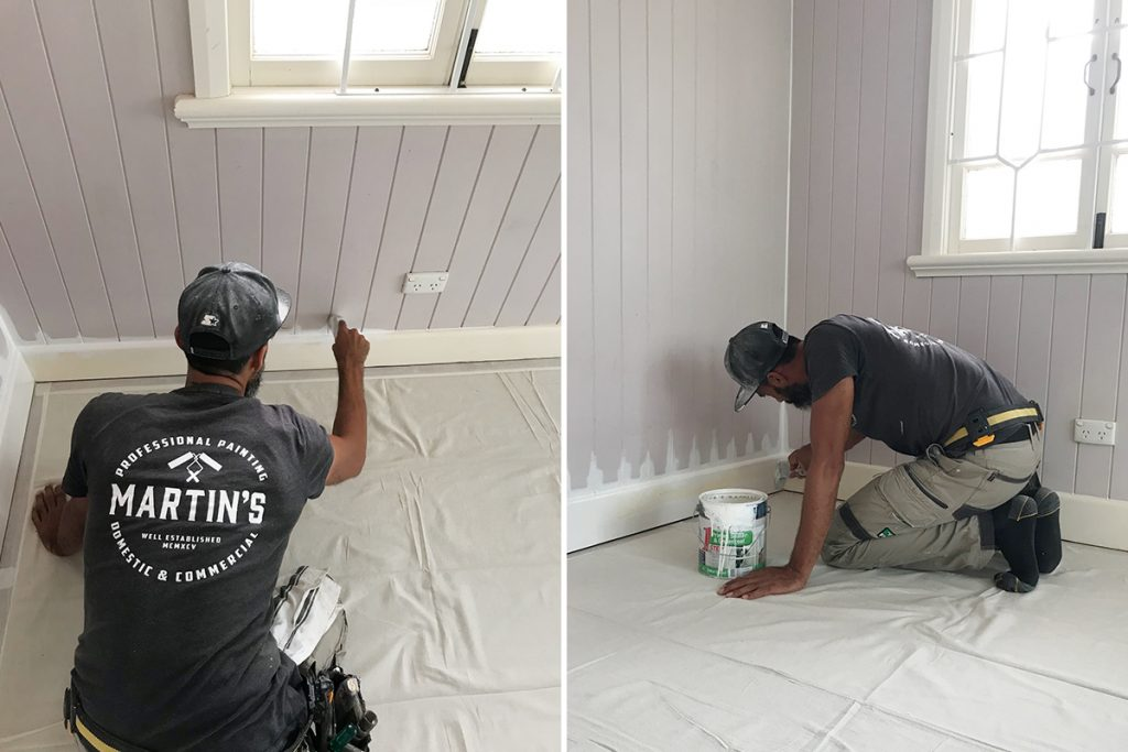 Painter Preparing interior painting