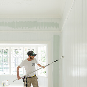 Mark Painting the interior of an Ashgrove Queenslander