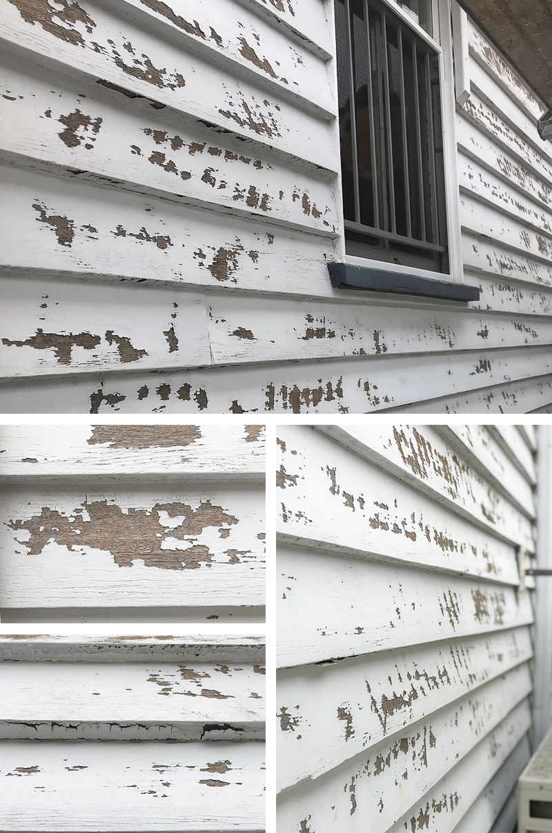 Original condition of weatherboards